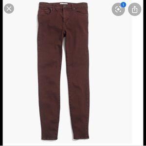Madewell skinny high rise garment dye jeans